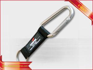 Regalo di cuoio Keychain degli uomini di Keychain di marchio del metallo