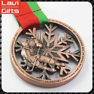 주문 구리 금속 러시아 3D 역도 메달