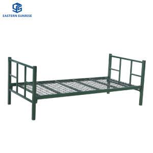 Prix bon marché de l'acier lit unique en métal pour l'hôtel