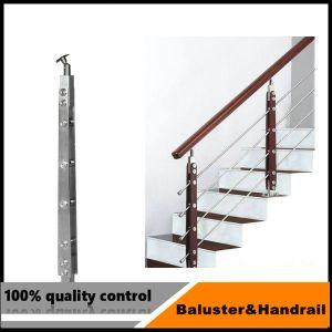 Fornitore certo interno/vetro esterno di asta della ringhiera dell'acciaio inossidabile che recinta per il balcone