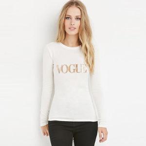 도매 여자의 의류에 의하여 주문을 받아서 만들어지는 면 t-셔츠
