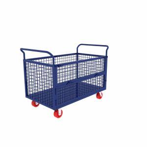 Carrello personalizzato del Pushcart di consegna di formato saldato rete fissa netta