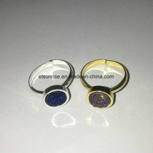 ec7e00ee4dbc La moda de cristal Natural Durzy chapado Anillo de abalorios de ágata