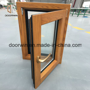 América Oak Wood Aluminum Composite Windows
