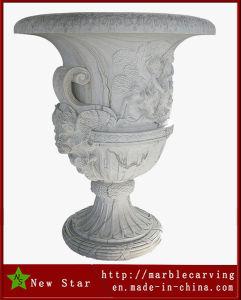 Белые мраморные сеялка камня Flower Pot