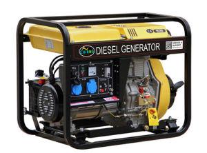 Aprire il generatore con il generatore della rotella ed elettrico 5kw del diesel