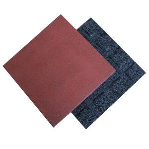 Pavimentadora de borracha coloridas exterior de borracha quadrados Reciclar Lado a Lado a Lado de borracha