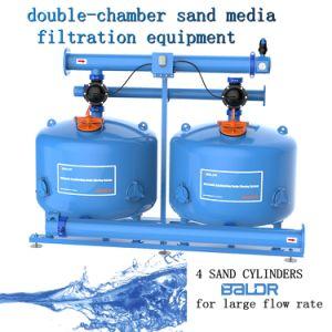 Automático/filtro de arena Equipos de filtración de los medios de comunicación /Double-Chamber 40pulgadas para la industria de gran caudal de agua