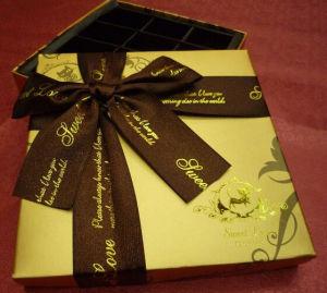 Het glanzende Gouden Vakje van de Gift van de Verpakking van het Document van de Kunst Zoete