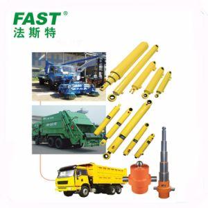 Cilindro hidráulico utilizado no veículo de lixo caminhões de lixo