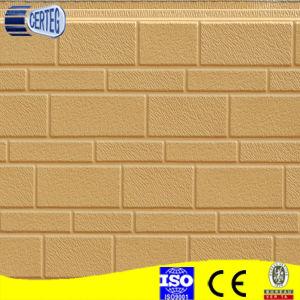 Motif de briques panneau sandwich polyuréthane pour matériau de construction de murs