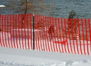 ストロンチウムシリーズHDPEの45メートルのオレンジ安全塀