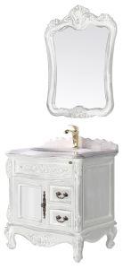 Gesundheitlicher Ware-Badezimmer-Bassin-Zubehör-Schrank-Badezimmer-Möbel-festes Holz Kurbelgehäuse-BelüftungMDF mit Spiegel-Edelstahl-Badezimmer-Eitelkeit 40