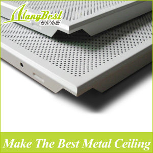 600*600mm Couleur blanc Bureau panneau de plafond en aluminium