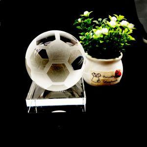 Хрустальное стекло рекламных свадебный подарок спортивные Ball-Football сувениров