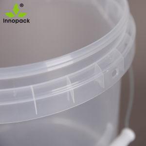 10L Impression de qualité alimentaire seau de godet en plastique avec couvercle et la poignée