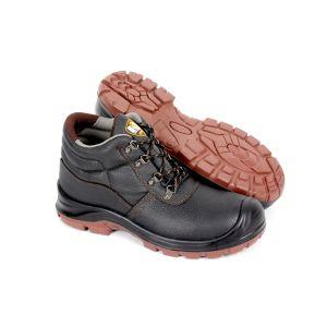 Venda a quente a alta qualidade certificado CE couro preto Homens trabalhando Calçado de segurança (SN5807)