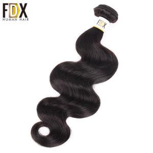 自然なRemyのバージンのクチクラによって一直線に並べられるブラジルの人間の毛髪