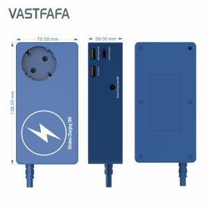 1 prise parasurtenseur allemand avec chargeur de téléphone sans fil