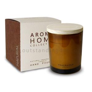 O OEM & ODM orgânicos de Distribuidor velas perfumadas de Cera de Soja branca com tampas de madeira