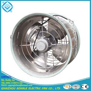 Ventilador para circulação de gases com efeito de aço inoxidável