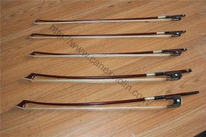 Arco de violino / arco de violino de madeira do Brasil (P-22V)