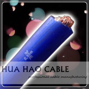 Матовая бумага голубого цвета с изоляцией из ПВХ медный проводник автомобильный кабель питания