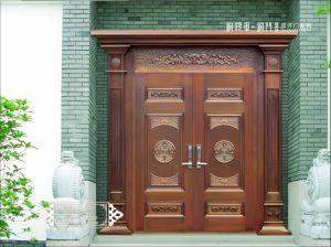 Villa porta de entrada da porta de bronze de segurança feita pelo fabricante de Porta Foshan