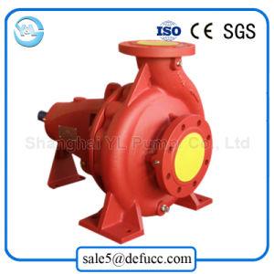A extremidade de gasóleo da bomba de sucção de água para o combate a incêndios