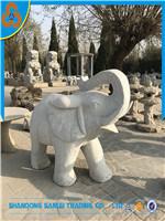 Olifant van de Steen van het Standbeeld van de Decoratie van de tuin de Dierlijke