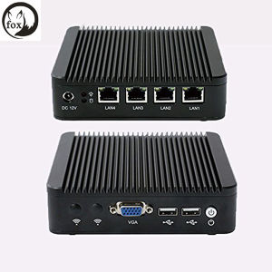 Novos Produtos Mini PC Barebone J1900 Quad Core 4 LAN 1080P Computador Industrial