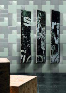 De lichtgrijze 3X6inch/7.5X15cm Glanzende Schuine rand verglaasde het Ceramische Bouwmateriaal van de Tegel van de Metro van de Muur
