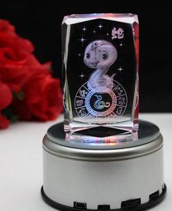 Commercio all'ingrosso di cristallo del Paperweight della foto del cubo quadrato in bianco inciso laser