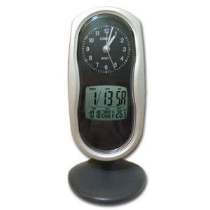 Dual Clock w/ Digital Calendar & Thermometer (ECG-045)