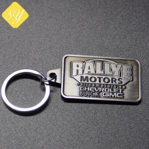 安いカスタムステンレス鋼の印刷されたラベル名の札のキーホルダー