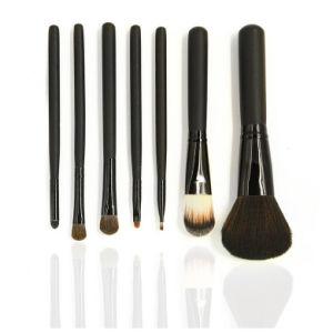 7pcs Mini de viaje Premium Kit de cepillo cosmético para regalo de Navidad