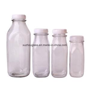 Venda por grosso de vidro de 1 litro garrafa de leite 240ml 360ml 400ml 930ml garrafa de vidro para o sector do leite
