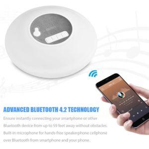 Système de son atmosphère colorée portatif léger haut-parleur Bluetooth