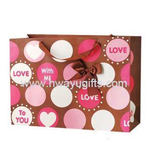 Sacchetto del regalo del biglietto di S. Valentino