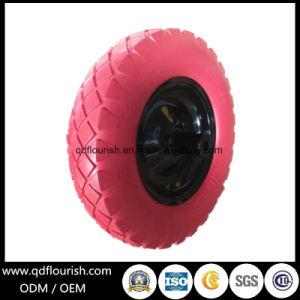 Carretilla de mano libre plana neumático de sólidos a prueba de punción de la rueda de espuma PU