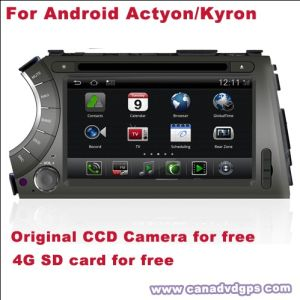 자유로운 제일 질 제일 서비스를 위한 인조 인간 Ssangyong Actyon 자동 DVD 플레이어 DVR WiFi 3G CCD 사진기 SD 카드는 Shipping+Gift를 해방한다