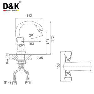 D&Kの洗面器のミキサーの真鍮の洗面器のコック水洗面器の蛇口