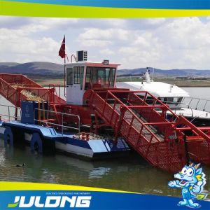 Julong nouvelle récolteuse de mauvaises herbes aquatiques/aquatique pour le nettoyage des voies navigables d'écumeur de la corbeille