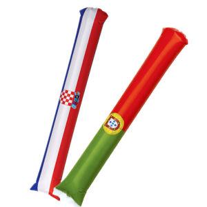 Bastone gonfiabile del PE, bastone di tuono, bastone incoraggiante gonfiabile per la tazza di mondo