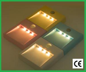 El sensor LED inteligente en el cuerpo humano de la luz de la noche en la pared (batería de litio)