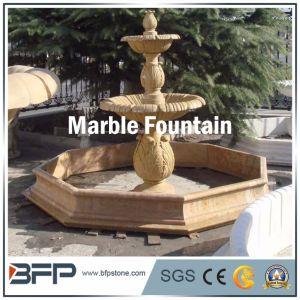La pierre naturelle fontaine en marbre jaune pour la décoration de ...