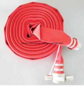 """2.5""""*30m de Caucho rojo/PVC/PU/mangueras contra incendios de TPU con acoplamiento británico"""