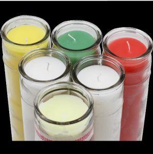 明確なガラス瓶の卸し売り香料入りのワックスの蝋燭