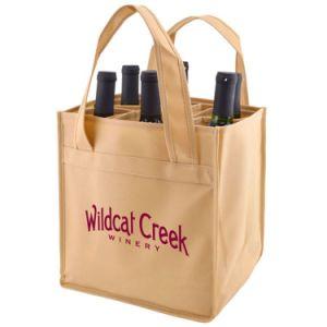 Sacchetto poco costoso personalizzato del vino tessuto pp della bottiglia di Eco 6 di verifica di Sedex