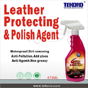 La protección de cuero y agente de polaco